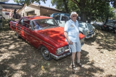 4868 Bob Raward of the Sapphire Coast Vintage Car Club with his Falcon XP coupe 1966